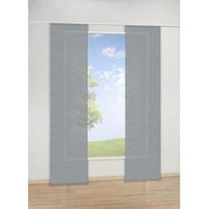Schiebevorhang Uni, grau, ca. 60 x 245 cm