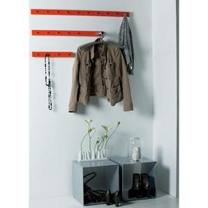 Garderobenleiste möbel »Straight 7 Haken«, grün, Gr. onesize, JANKURTZ, Material: Stahlblech