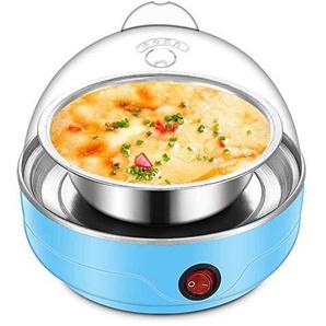 Sxuefang Eierkocher Mini Steamer Wilderer Küche Kochwerkzeug Hellblau 220 V 50 HZ Multifunktionale Elektrische 7 Eierkocher Herd