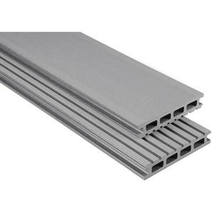 Kovalex WPC Terrassendiele gebürstet Grau Zuschnitt 2,6x14,5x580cm