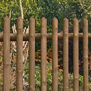 Gartentür / Pforte für Holz Senkrechtzaun 55 kdi braun 100x80cm
