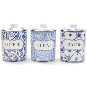 Vorratsdosen DELFT STYLE Kaffeedose Teedose Dosen Porzellan blau weiß