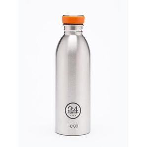 Trinkflasche Urban Bottle Silber, Designer 24Bottles Design Bologna, 21 cm