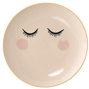 Bloomingville Audrey Plate, White, Stoneware Ø20 cm