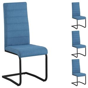 Esszimmerstühle SALINAS im 4er Set in blau