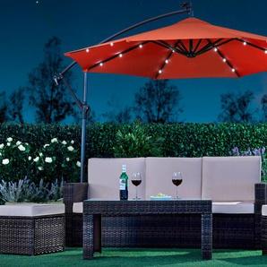 LED-Garten-Sonnenschirm in Rot ohne Schutzh�lle