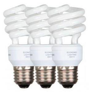 Energiesparleuchtmittel Spirale E27 15 Watt 3er-Pack