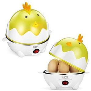 Leoyee Eierkocher Egg Cooker für 1-7 Eier mit Indikationsleuchte Abschaltautomatik (Gelb)
