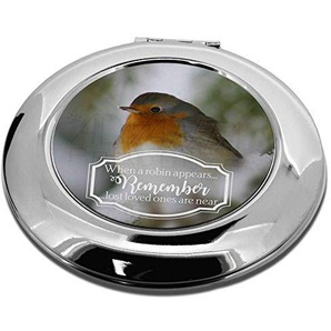 Advanta Group Little Robin Kosmetikspiegel, rund, Rot