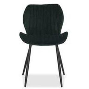Toscani - Stuhl dunkelgrün Veloursbezug