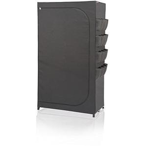 Leifheit Kleiderschrank Flex, Stoff, schwarz 50 x 90 x 160 cm