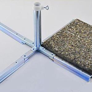 Platten - schirmständer - aus 4 mm Ø DEUTSCHEM STAHL - BIS 55 mm Ø -GALVANISCH VERZINKTER SCHIRM PLATTENSTÄNDER STABIELO aus Metall für GROSSSCHIRME zum Einlegen von BETONPLATTEN - DER STABIELO ® SONNENSCHIRM PLATTENSTÄNDER für Schirmstöcke bis Ø 55 mm -