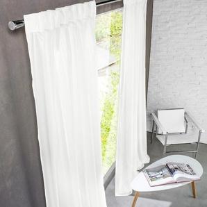 Création Baumann Store/Gardine Terzacoustic - 1 Stück, 142 x 245 cm - Weiß