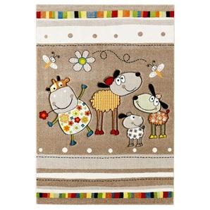 Kinderteppich ANIMALS TAUPE 120 x 170 cm in Mehrfarbig