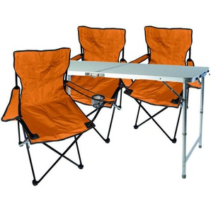4-teiliges Campingmöbel Set orange-MMC330872+3xMPO2468 - MOJAWO