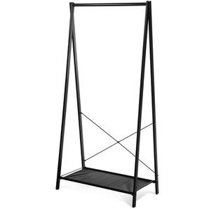 Garderobenständer aus Metall, 80x40x160, schwarz