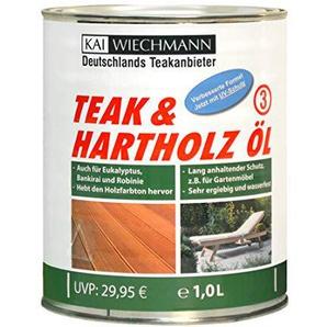 Kai Wiechmann Original Teak & Hartholzöl, sehr ergiebig, 1 Liter, 1000 ml