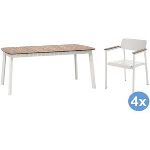 Emu Shine Teak Gartenset 166x100 Tisch + 4 Stühle (Armchair)