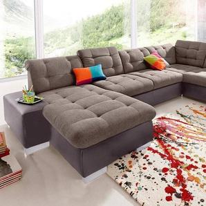 sit&more Wohnlandschaft, wahlweise in XL oder XXL, braun, Kunstleder Softlux/Feinstruktur