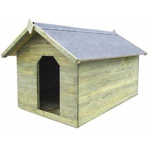Hundehütte mit öffnendem Dach Imprägniertes Kiefernholz - VIDAXL