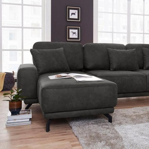 exxpo - sofa fashion Ecksofa, mit Bettfunktion, grau, Luxus-Microfaser