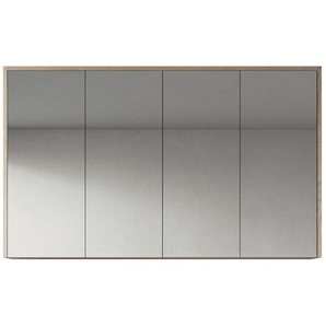 Spiegelschrank Cuba 120cm Eiche hell - Schrank Spiegelschrank Spiegel Badezimmer Badmöbel Set Hängeschrank - BADPLAATS