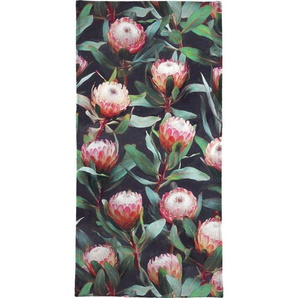 Handtuch »Evening Proteas in Color«, Juniqe, Weiche Frottee-Veloursqualität