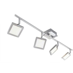 casaNOVA LED Deckenlampe 4 flg PAD Nickelfarbig