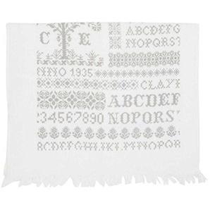 Clayre & Eef CTCSPN Cross Stich Pattern Handtuch Gästehandtuch Gästetuch natur ca. 40 x 60 cm