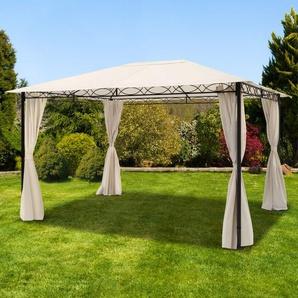 Gartenpavillon Rendezvous Classic champagnerfarben, 3x4m