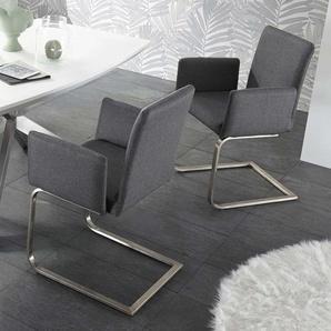 freischwinger in grau preisvergleich moebel 24. Black Bedroom Furniture Sets. Home Design Ideas