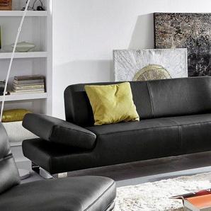 W.schillig 2-Sitzer Sofa »taboo«, schwarz, B/H/T: 202x41x69cm, hoher Sitzkomfort