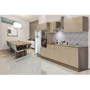 Respekta Economy Küchenzeile LBKB330EYCMIGKE ohne E-Geräte 330 cm Cappuccino-Eic