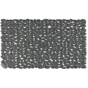 Spirella Duschmatte Anti Rutsch Matte Riverstone antibakteriell Rutschfest 75 x 36 cm - mit Sanitized Hygienefunktion - Grau - Made in EU