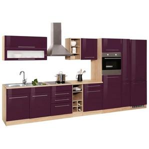 HELD MÖBEL Küchenzeile ohne E-Geräte »Eton«, Breite 390 cm, lila