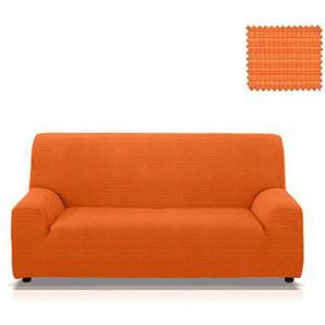 Elastische Sofahuss Vulcano, Grösse 1 Sitzer (von 55 bis 85 Cm.), Farbe Orange(mehrere Farben verfügbar)