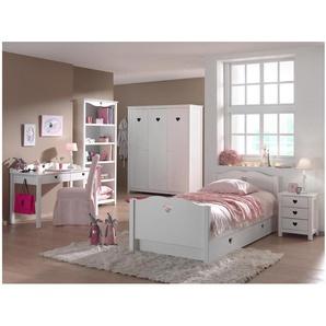 JUSTyou Juba Kinderzimmer-Set Kinderzimmermöbel Komplett Weiß