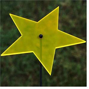 Acrylglas Sonnenfänger Stern 14cm neon transparent fluoreszierend mit 100cm Stab - Farbauswahl - Suncatcher, Farbe:neonorange