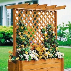 PROMADINO Holzspalier Pergola mit Pflanzkasten, BxTxH: 102x65x140 cm