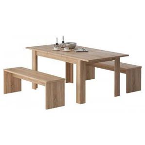 Tischgruppe Sylt Sonoma Eiche Nachbildung ca. 140 cm
