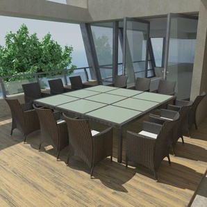 12-Sitzer Gartengarnitur Delray mit Polster