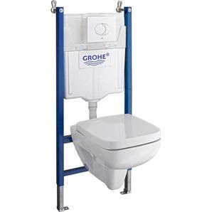 Keramag Wand-WC-Set Spülrandlos Renova Nr.1 Plan mit WC-Sitz & TB-Vorwandelement