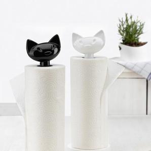 Koziol Küchenrollenhalter ,schwarz ,Kunststoff