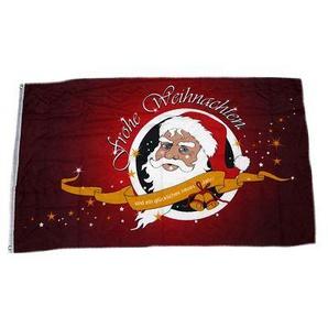 Fahne / Flagge Frohe Weihnachten rot NEU 150 x 250 cm
