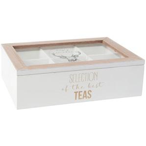 Teebox, bedruckt mit Hirschmotiv