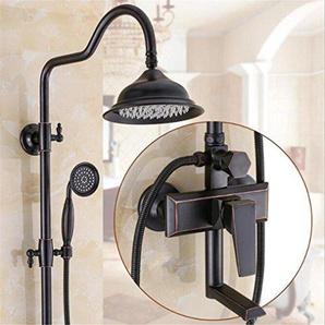 FFJTS Schwarze Bronze Dusche Set / Kupfer Wasserhahn Continental Kupfer Antique Dusche