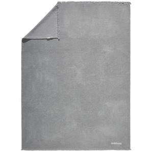 Ambiente Plaid 130/170 cm Grau , Textil , Uni , 130x170 cm