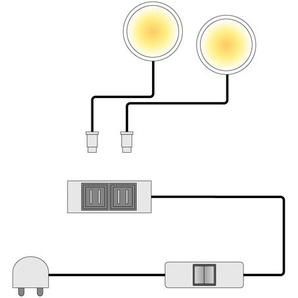 LED-Spotbeleuchtung Sparkle (3er-Set)
