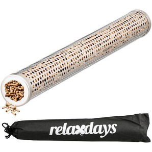Relaxdays Räucherröhre Edelstahl 30 cm