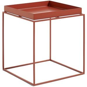 Hay Tray Table Rot Medium Couchtisch (l) 40.00 X (b) 40.00 X (h) 44.00 Cm